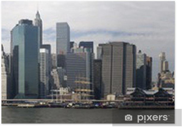 Plakat Panoramę Nowego Jorku - Miasta amerykańskie