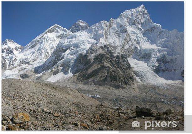 Plakat Panoramiczny Everest & Nupse od Kalapattar, 5545m - Tematy