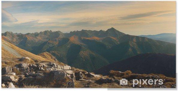 Plakát Panoramiczny krajobraz polskich Tatr - Hory