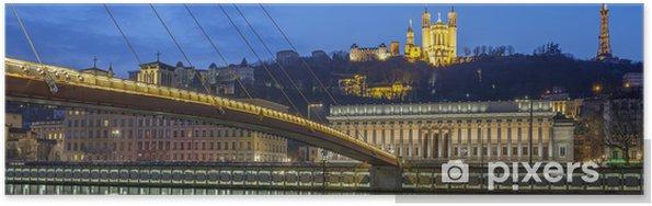 Plakat Panoramiczny widok z Saone rzeki w Lyonie - Tematy