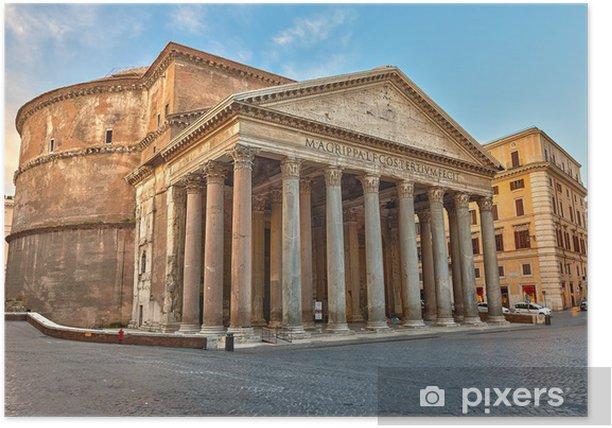 Plakat Panteon w Rzymie, Włochy - Tematy
