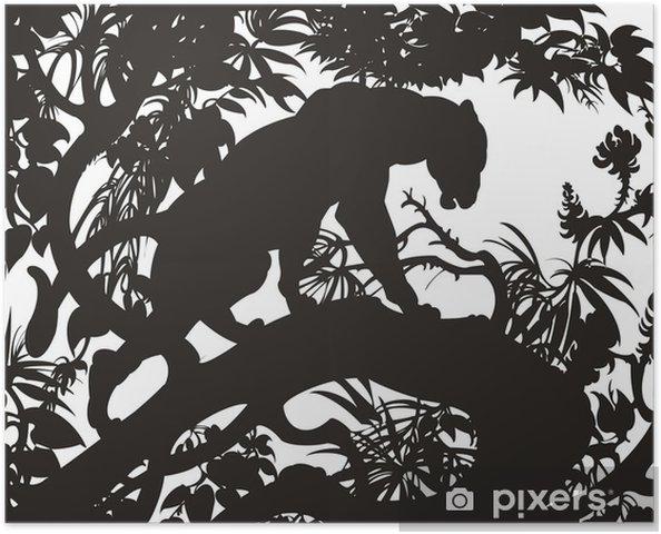 Plakat Pantera - Ssaki
