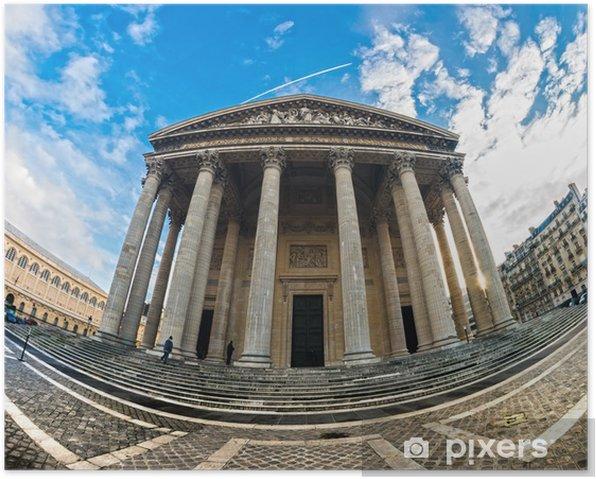 Plakat Pantheon, Paryż, Francja. - Miasta europejskie