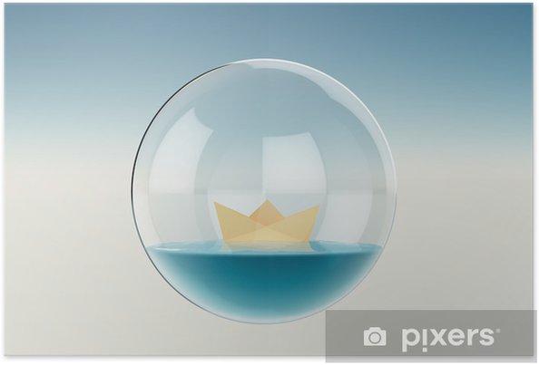 Plakát Papírová loď - Voda