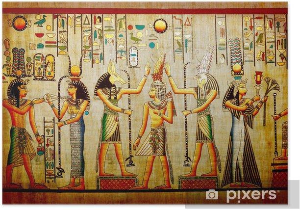 Plakat Papirus starych papieru naturalne z Egiptu - iStaging