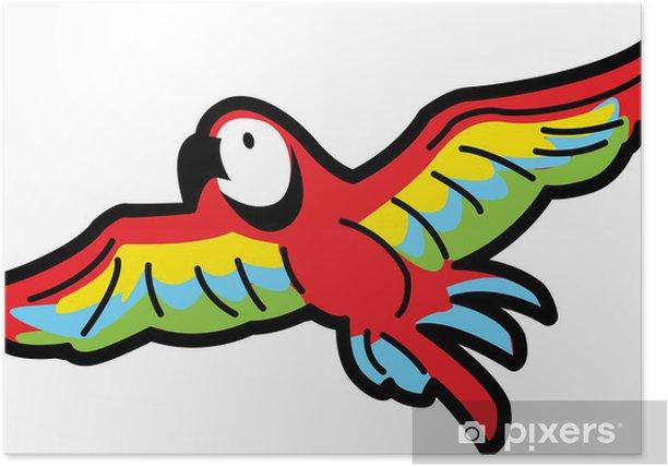 Plakat Papuga Latanie - Naklejki na ścianę