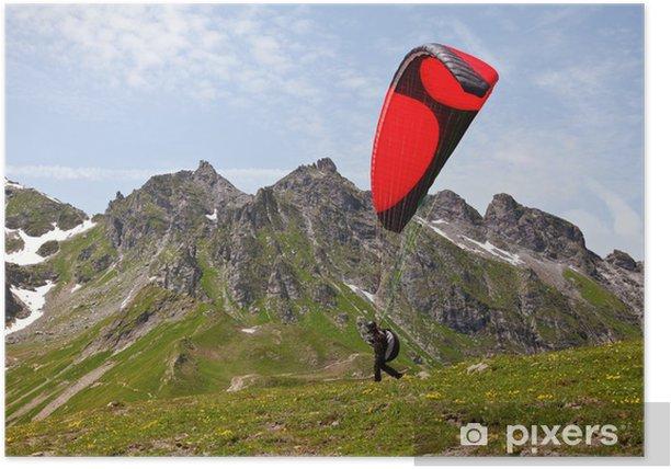 Plakat Paralotniarstwo w Alpach - Europa