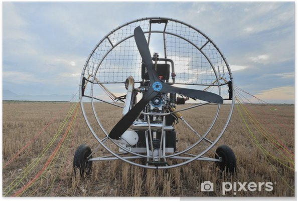 Plakat Paramotor - Transport powietrzny