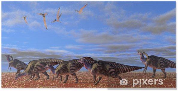 Plakat Parasaurolophus Desert - Tematy