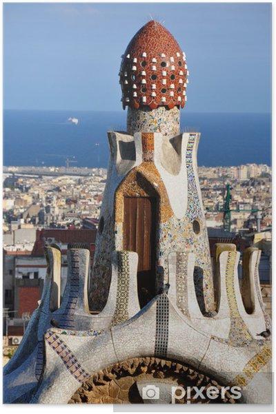 Plakat Parc Guell Barcelone - Miasta europejskie