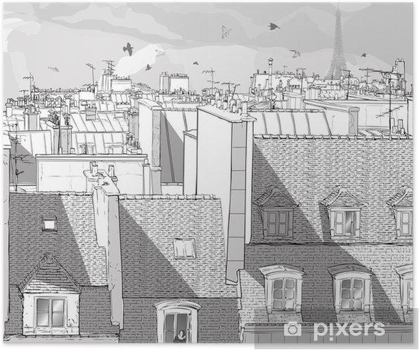 Plakat Paris france - dachy - Tematy