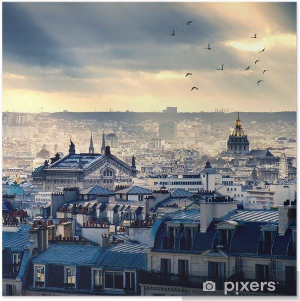 Plakat Paris miasta pochodzi z Montmartre - Tematy