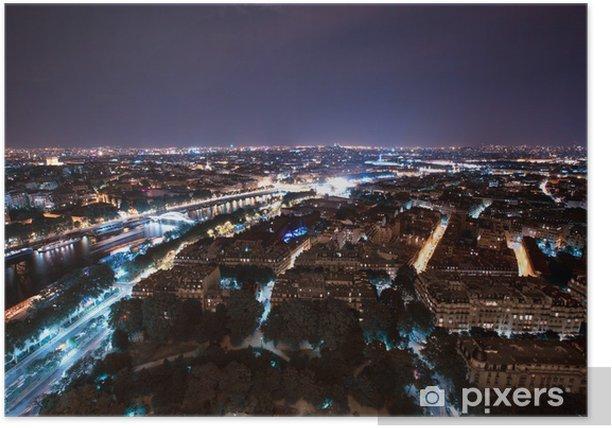 Plakát Paris noc - Evropa