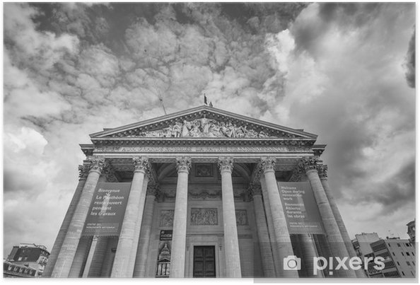 Plakát PAŘÍŽ - cca 06 2014: Pohled Pantheon exteriéru. landmar - Památky
