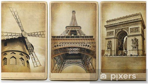 Plakát Paříž - vintage fotoalbum série - Styly