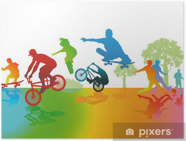 Plakat Park Fun i Sport - Skateboarding