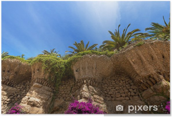 Plakát Park Güell, Barcelona (Španělsko) - Evropská města