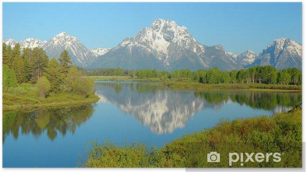 Plakat Park Narodowy Grand Teton - Góry