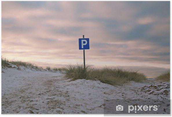 Plakát Parkplatzschild - Značky a symboly