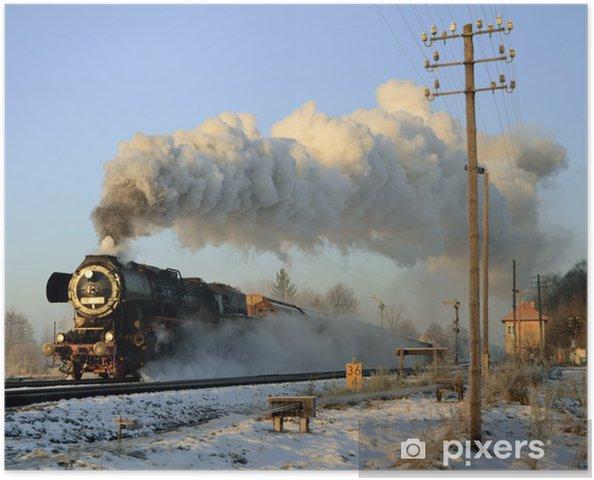 Plakát Parní vlak v zimě - Témata