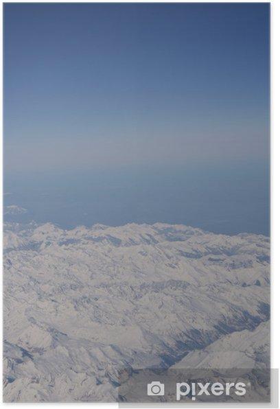 Plakat Pasmo górskie z Above - Góry