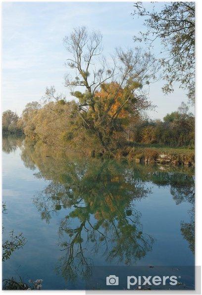 Plakat Payge et reflet - Krajobraz wiejski