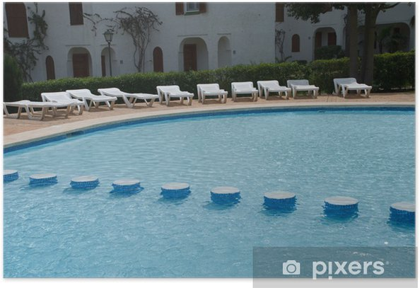 Plakát Paysage de piscine - Voda