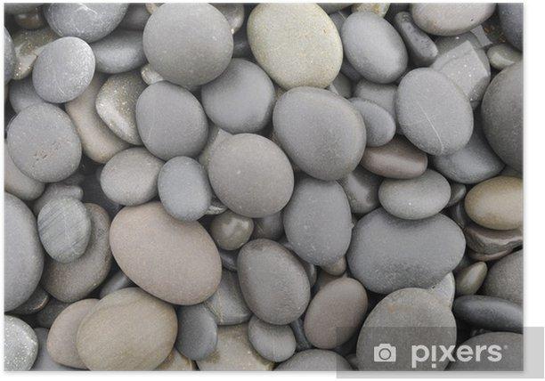 Plakat Pebble kamienie w różnych kształtach - Tekstury