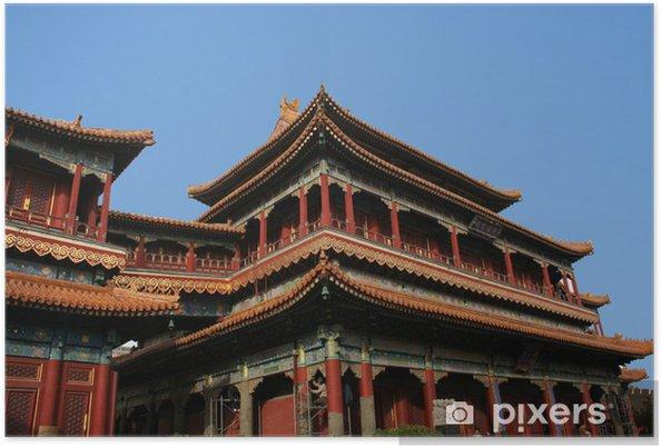 Plakát Pekin chrám des lamas - Asijská města