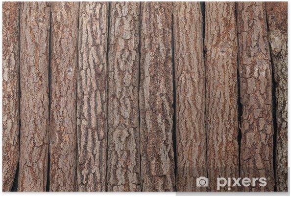 Plakat Pełna drewniane tle - Tekstury