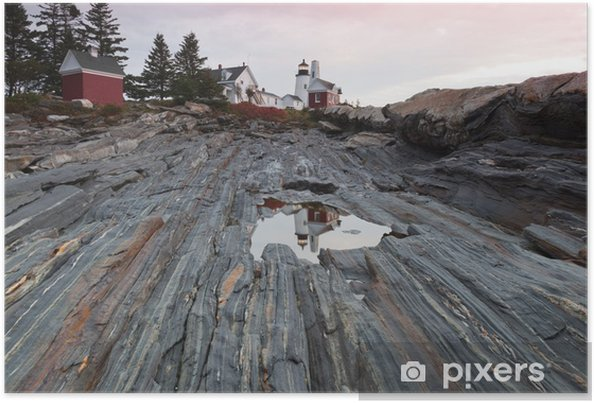 Plakat Pemaquid Point Lighthouse, Maine, USA - Ameryka