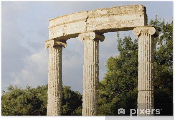 Plakát Philippeion na starověké archeologické naleziště Olimpia v Řecku - Evropa