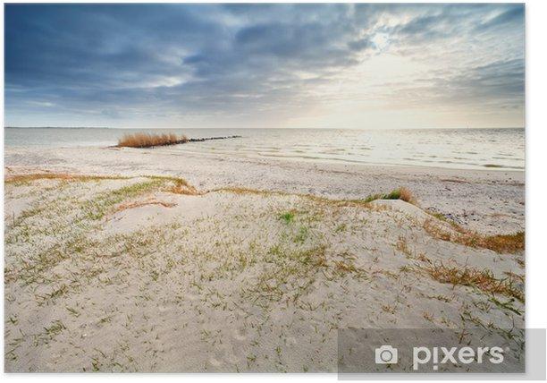 Plakat Piasku wybrzeża przez Ijsselmeer, Hindeloopen - Woda