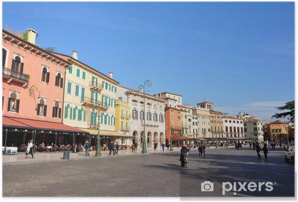 Plakat Piazza Bra - Verona, Italien - Europa