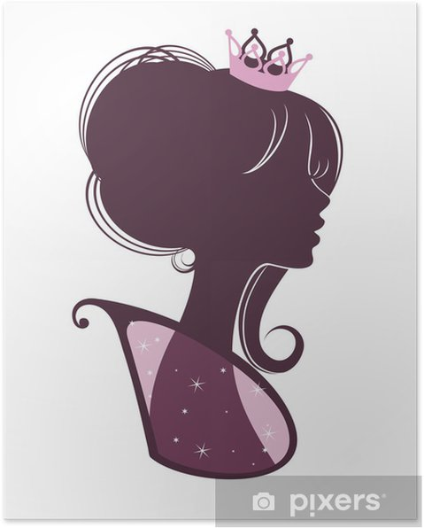 Plakat Piękna księżniczka - Moda