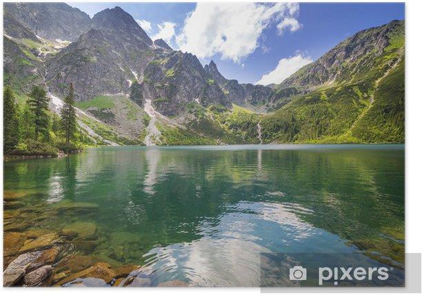 Plakat Piękne krajobrazy Tatr i jezioro w Polsce - Tematy