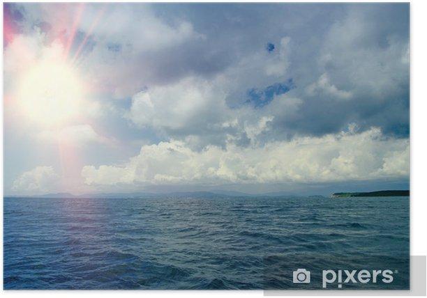 Plakat Piękne morze i niebo chmury - Pory roku