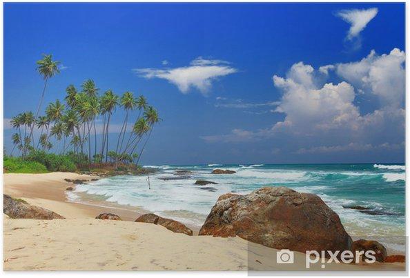 Plakat Piękne plaże Sri lanka - Wakacje