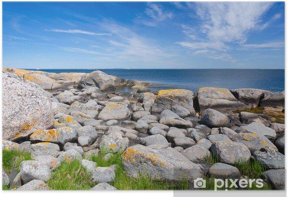 Plakat Piękne skaliste wybrzeże - Pory roku