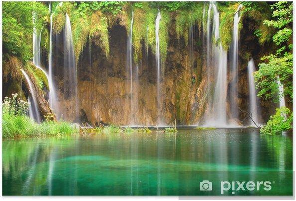 Plakat Piękne wodospady w parku narodowego Jeziora Plitwickie - Tematy