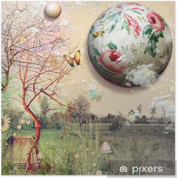 Plakat Piękny Dzień Wiosny W Do Marzeń