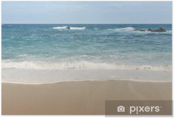 Plakat Piękny krajobraz z plaży - Szczęście