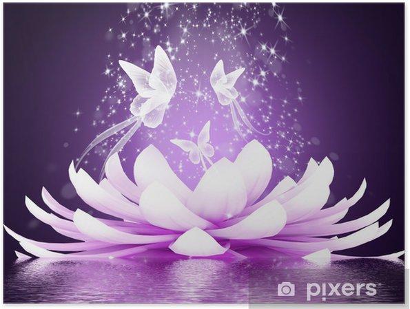 Plakat Piękny kwiat lotosu - Style