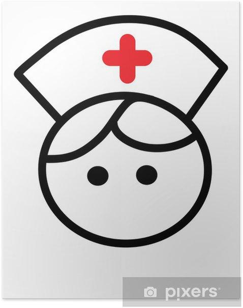 Plakat Pielęgniarka - Ludzie w pracy