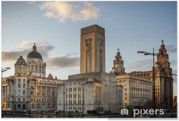 e68951982 Plakat Pier Head, Liverpool • Pixers® - Żyjemy by zmieniać