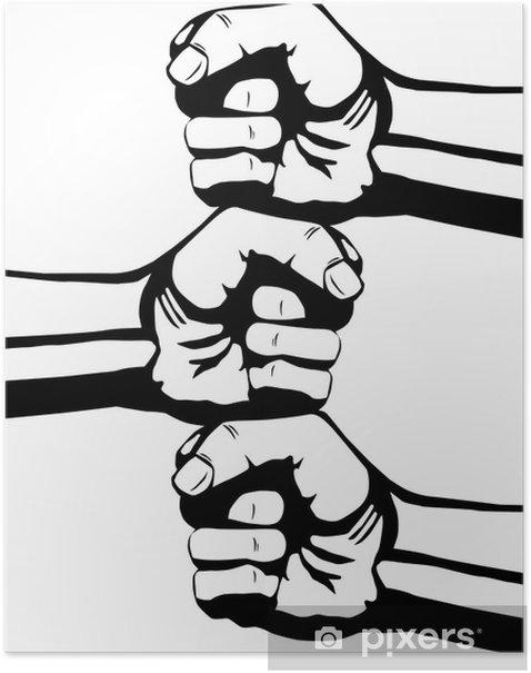 Plakat Pięść - Gniew