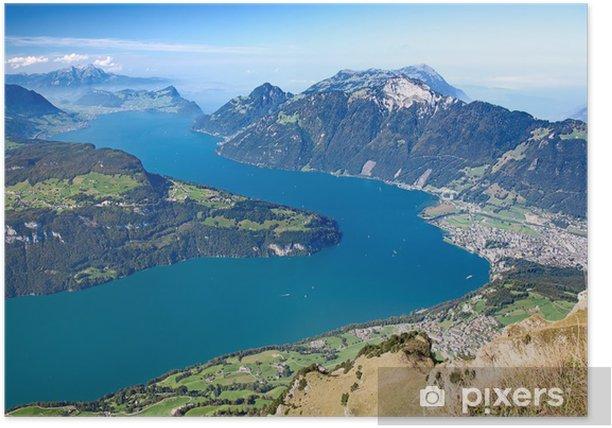 Plakat Piesze wycieczki w Alpy - Europa