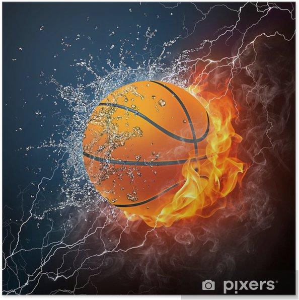 Plakat Piłka do koszykówki - Koszykówka