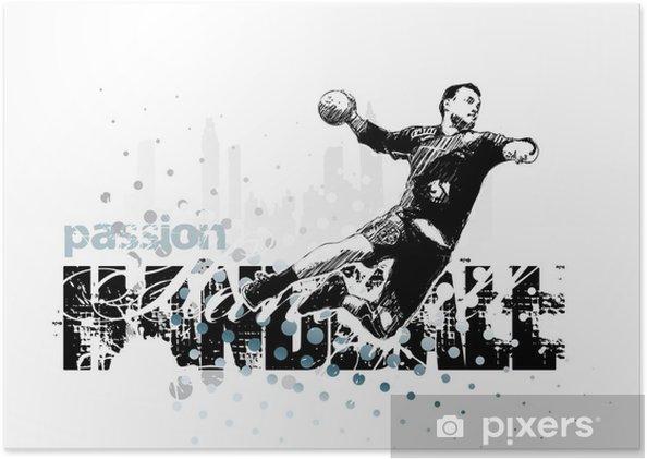 Plakat Piłka ręczna 1 - Sporty drużynowe