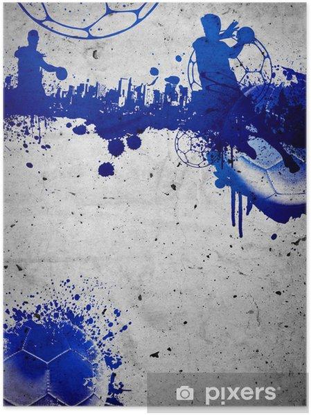 Plakat Piłka ręczna w tle - Sporty drużynowe